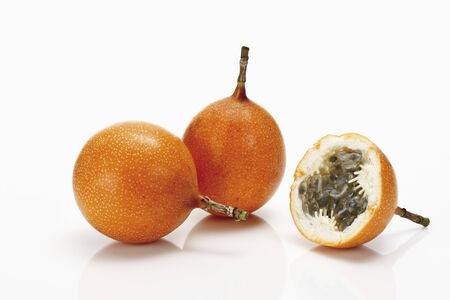 grenadilla: Granadillas, Passion fruits Stock Photo