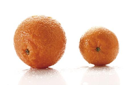 citrus reticulata: Fresh tangerines (Citrus reticulata) Stock Photo