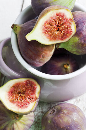 still lifes: Still life with figs in cup