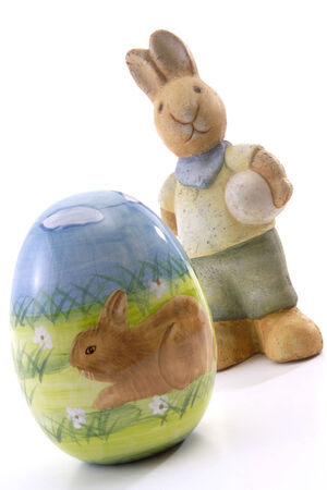 easter egg with easter bunny