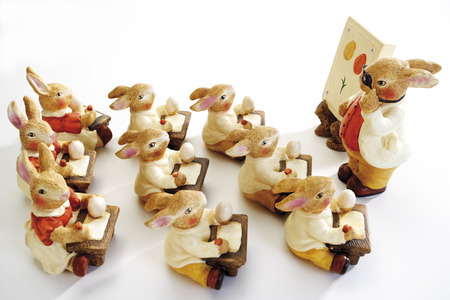 Easter bunnies in school Stock Photo