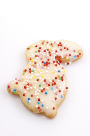 easter cookie: Bunny-shaped Easter cookie