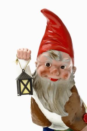 nain de jardin: Garden gnome tenue lanterne