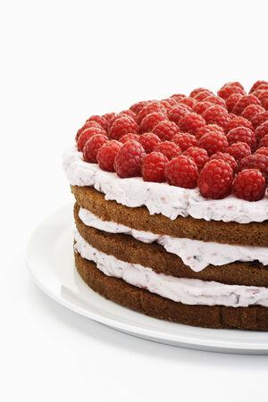 cream on cake: Frambuesa pastel de crema