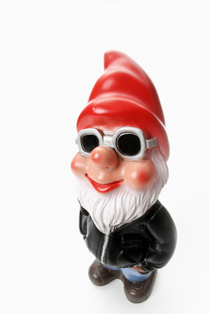 Cool garden gnome wearing sun glasses