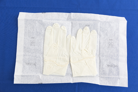 aseptic: Sterile surgical gloves Stock Photo