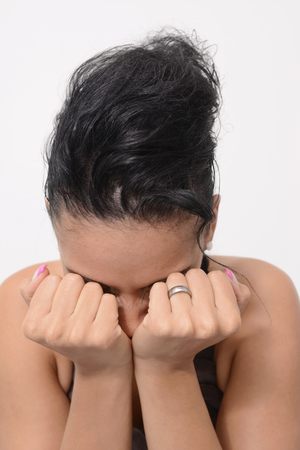 despaired: Despaired young woman Stock Photo