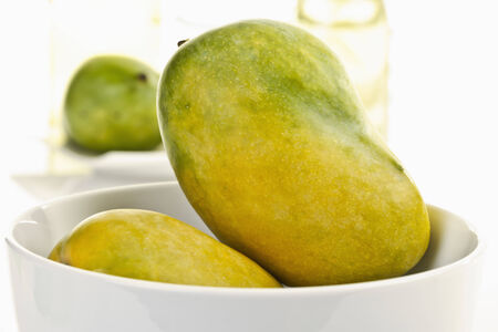 ripeness: Mangos from Pakistan in bowl