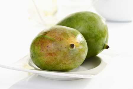ripeness: Mangos from Israel on plate