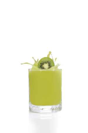 kiwis: Green fruit juice from kiwis, lime and grapes