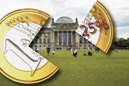 Berlin, the German parliament building, Reichstag, Withholding tax, close-up
