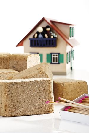 briquettes: Wood briquettes, close-up