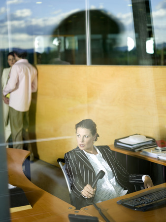 overstress: Businesswoman in office