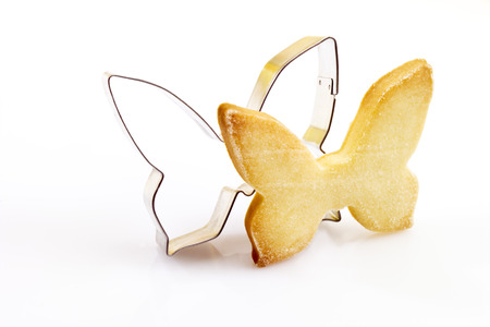 short crust pastry: Pastry cutter, cookie, butterfly shape