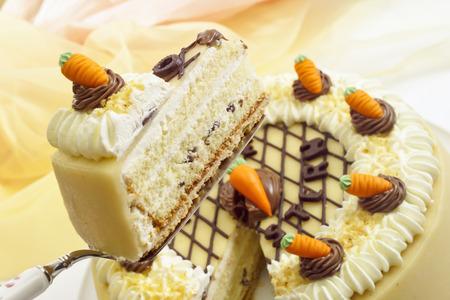 cream cake: Cream cake, Easter cake, marzipan carrots