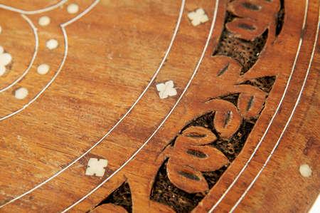 marqueteria: Marqueter�a de mesa Foto de archivo