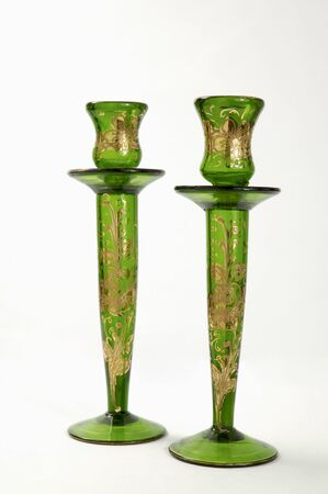 Oriental candle holders Stock Photo