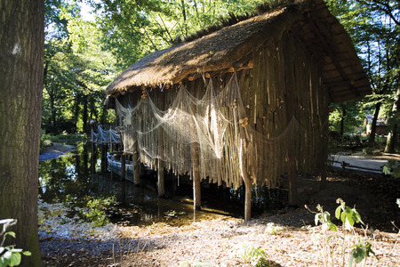 imitations: African Fisher huts Stock Photo