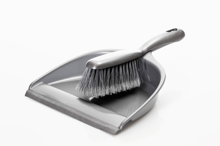 things that go together: Dustpan and hand brush on white background