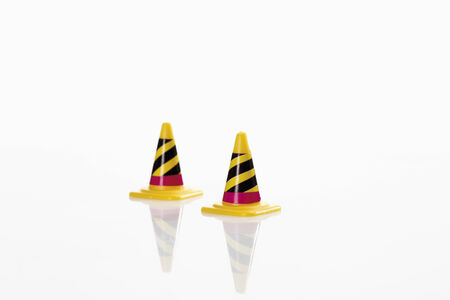 traffic   cones: Traffic cones on white background