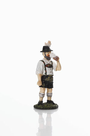 stein: Bavarian figurine drinking beer from beer stein