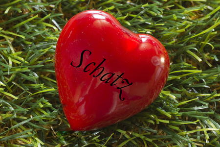 darling: Heart on grass, darling