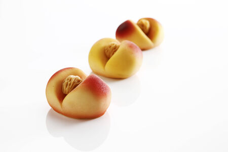 marzipan: Marzipan, peaches Stock Photo