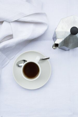with coffee maker: Coffee cup and coffee maker