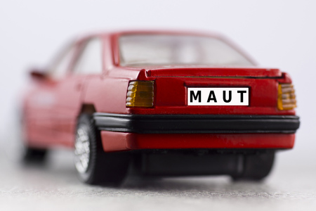 number plate: Red car, number plate, car toll