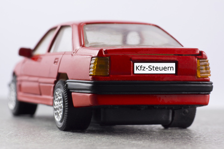 number plate: Red car, number plate, toll