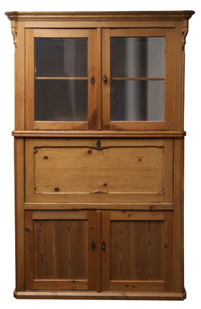 softwood: Old German cupboard, Softwood, pinewood Stock Photo