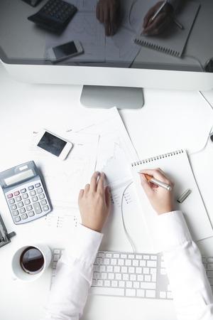 stockbroker: Stockbroker working at desk