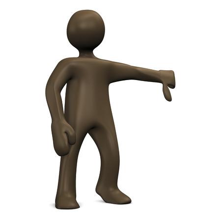 thumb down: Thumb down, figure, 3d illustration