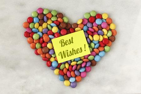 smarties: Heart shape, chocolate beans, smarties Stock Photo