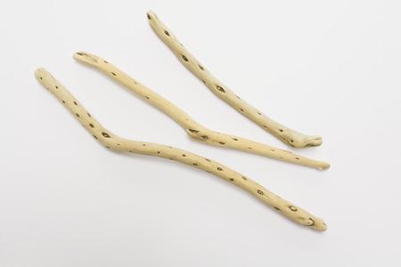 driftwood: Driftwood on white background