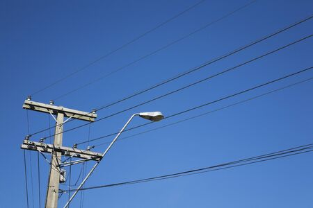 conduction: New Zealand , street lamp and power pylon
