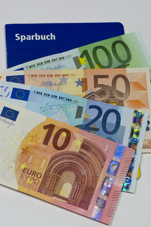 euro notes: Bankbook and Euro notes