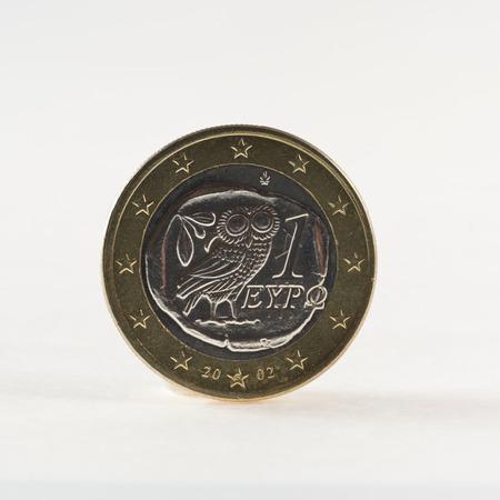 greek coins: Greek one euro coin Stock Photo