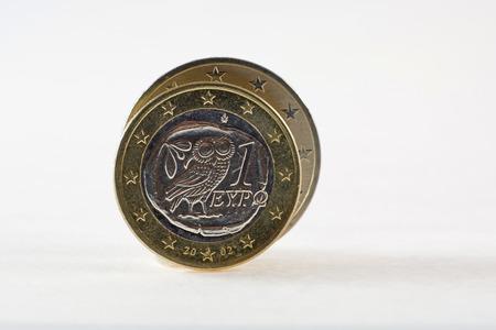 greek coins: Greek one euro coins