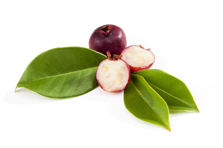 halved  half: Strawberry guavas