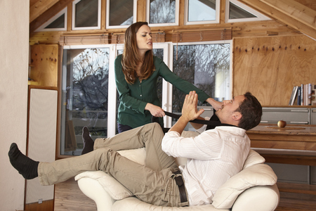 relationship problems: Couple having relationship problems quarreling
