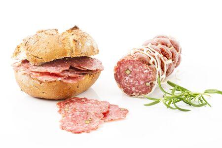 bread roll: Pepper salami, bread roll