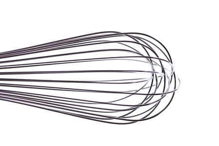 wire whisk: Wire whisk, steel, close up, white background