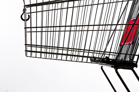 consuming: Shopping cart, close up