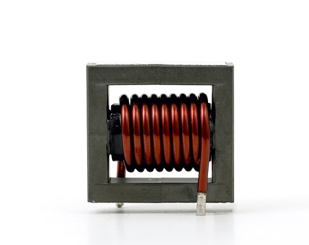 inductive: Inductive component, copper wire coil, ferrite core
