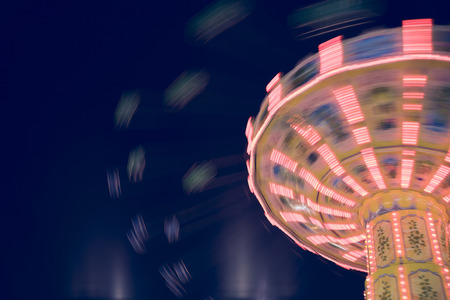 chairoplane: Germany, Hamburg, Carousel at night