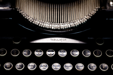 maquina de escribir: Claves de la m�quina de escribir de la vendimia Foto de archivo