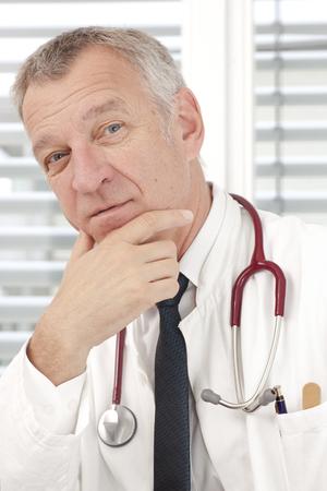 mature doctor: Portrait of mature doctor
