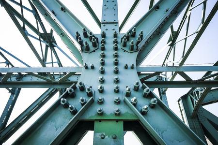 estructura: Construcci�n de acero del Mautern Brigde, Austria Foto de archivo