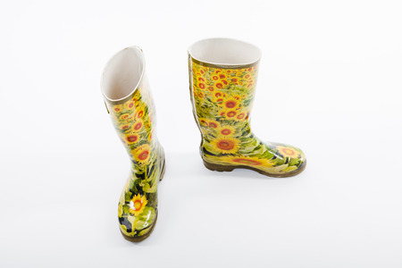 wellingtons: Wellington boots with sunflower pattern